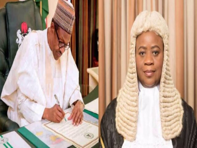 Buhari extends appointment of Justice Dongban-Mensem as acting President, Court of Appeal